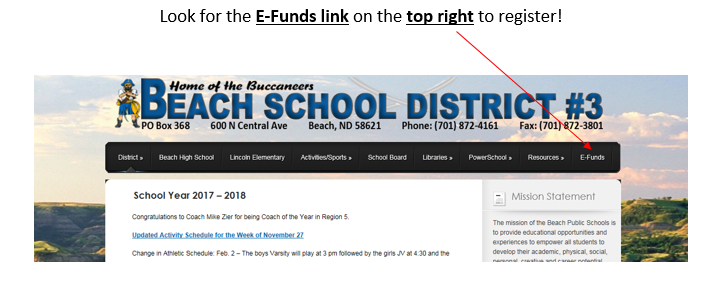 picture of how to go to the e-funds link